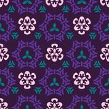 Trendy Purple and Green Ornamental Geo Damask. Ornamental Damask Seamless Vector Pattern, Hand Drawn Stylized Graphic Illustration for Trendy Fashion Prints vector illustration