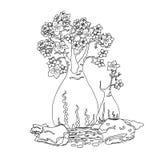 Ornamental de dibujo de la mano Foto de archivo libre de regalías