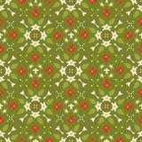Ornamental de fête vert et rouge d'étoile d'hiver illustration stock