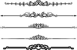 Ornamental Decor Page Rule Set Stock Photo
