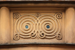 Ornamental decoration on the Art Nouveau building Royalty Free Stock Images