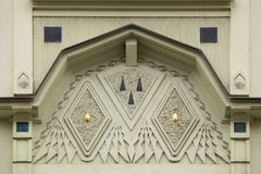 Ornamental decoration on the Art Nouveau building in Prague. Royalty Free Stock Images