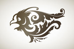 Ornamental decorative bird. Vector illustration of abstract flying  decorative bird owl Royalty Free Stock Photography