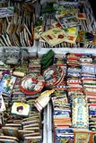 Ornamental and decorative ceramic tiles sold at a store in Dapitan Arcade in Manila, Philippines Royalty Free Stock Images