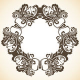 Ornamental decorative Christmas frame. Vector illustration of wreath Stock Photo