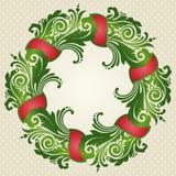 Ornamental decorative Christmas wreath. Ornamental decorative Christmas frame. Vector illustration of wreath Stock Photography