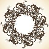Ornamental decorative Christmas wreath. Ornamental decorative Christmas frame. Vector illustration of wreath Royalty Free Stock Photos