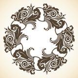 Ornamental decorative Christmas wreath. Vintage vector illustration Royalty Free Stock Photos