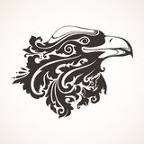 Ornamental decorative eagle. With floral pattern. Vector illustration Royalty Free Stock Photography