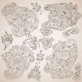 Ornamental decorative elements set Royalty Free Stock Image