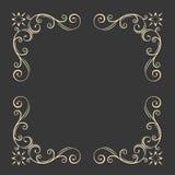 Ornamental decorative frame. Swirls, floral filigree elements. Vintage style. Wedding invitation, Greeting card design. Vector. Ornamental decorative frame Royalty Free Stock Photo