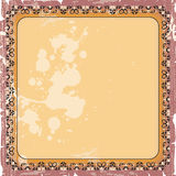 Ornamental decorative frame in yellow color. Ornamental decorative frame in yellow Royalty Free Stock Photography