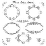 Ornamental decorative frames and elements set Stock Photography