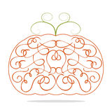 Ornamental decorative orange pumpkin Stock Images