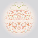 Ornamental decorative orange pumpkin Stock Photo