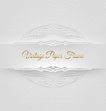 Ornamental decorative paper frame Stock Image