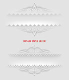 Ornamental decorative paper frames Royalty Free Stock Image