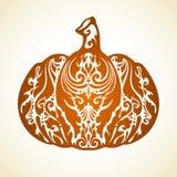 Ornamental decorative pumpkin. Ornamental decorative pattern pumpkin symbol. vector illustration stock illustration