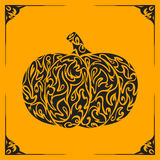 Ornamental decorative pumpkin silhouette Stock Photo