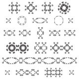 Ornamental decorative set. Vector ornate design elements. Vintage page decoration. Stock Photo