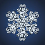 Ornamental decorative snowflake symbol. Vector snow illustration Stock Photography