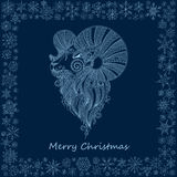 Ornamental decorative symbol of the new year / sheep / goat / 20. 15 Stock Photography