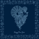 Ornamental decorative symbol of the new year / sheep / goat / 20. 15 Royalty Free Stock Photos