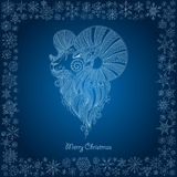 Ornamental decorative symbol of the new year / sheep / goat / 20. 15 vector illustration