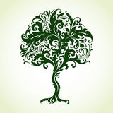 Ornamental decorative tree. With floral pattern. Vector illustration Stock Photos