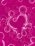 Ornamental del corazón stock de ilustración