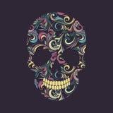 Ornamental del remolino del cráneo Foto de archivo libre de regalías