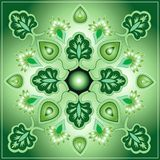 Ornamental design. Mandala pattern suggesting elements of nature royalty free illustration