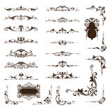 Ornamental design borders and corners Vector set of vintage ornaments Stock Photos