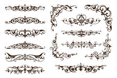 Ornamental design borders and corners Stock Image