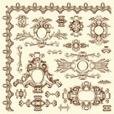 Ornamental design element of Lviv historical Royalty Free Stock Photos