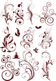 Ornamental design elements. Floral ornamental design elements - vector Stock Photos