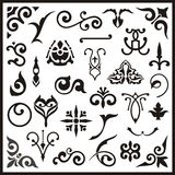 Ornamental design elements. Vinyl ready s Royalty Free Stock Image