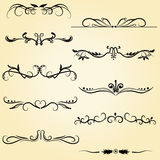 Ornamental design elements Stock Images