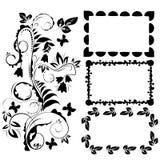 Ornamental design elements and frames Stock Images