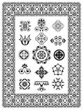 Ornamental  design elements monograms Stock Image