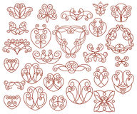 Ornamental design elements, series.Vector illustration. Royalty Free Stock Images