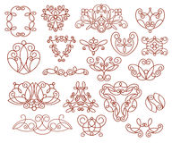 Ornamental design elements,  series.Vector illustration. Royalty Free Stock Image