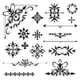 Ornamental design elements Stock Images