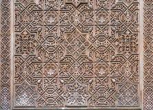 Ornamental design of Gilded Room Cuarto dorado of Alhambra Stock Image