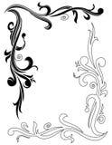 Ornamental design. Line art ornamental design on white background royalty free illustration