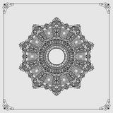 Ornamental design, Vintage arabesques mandala/rosette Royalty Free Stock Image