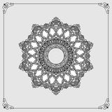 Ornamental design Vintage arabesques mandala/rosette Royalty Free Stock Photography