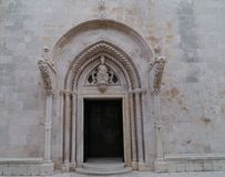 An ornamental detail of the St Marco in Korcula Stock Photos