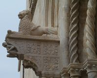 An ornamental detail of the St Mark in Korcula Royalty Free Stock Image