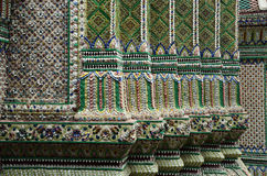 Ornamental detail at Thai temple. Enameled tile detail decorative at Thai temple Royalty Free Stock Photos
